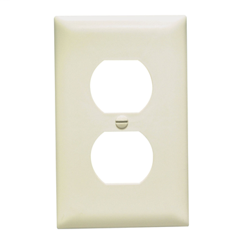 Duplex Receptacle Openings, One Gang, Light Almond