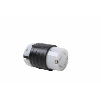 Industrial Spec Grade Turnlok® 20A Non-NEMA Connector, Black Back, White Front Body
