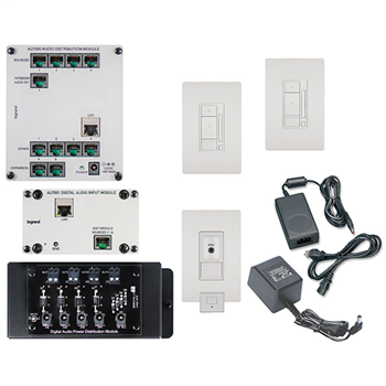 On-Q AU7252-WH White 2-Source 2-Room Digital Audio Kit