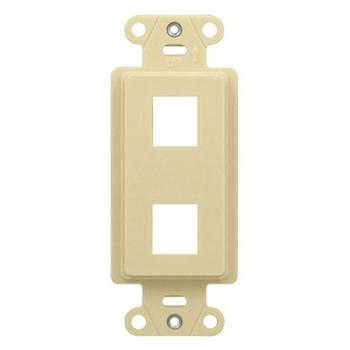 2-Port Decorator Outlet Strap, Light Almond