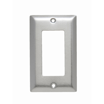 Pass & Seymour SSO26 1-Gang 1-Decorator Smooth Brushed Stainless Steel Jumbo Wallplate