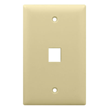 1-Gang, 1-Port Wall Plate, Light Almond