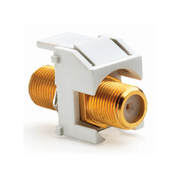 ONQ WP3480-WH GOLD STANDARD F CONNECTOR WH (M20)