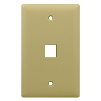 1-Gang, 1-Port Wall Plate, Ivory