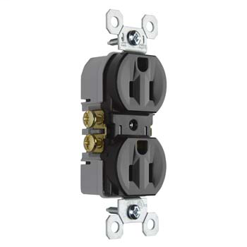 15A/125V TradeMaster® Duplex Receptacle, Brown
