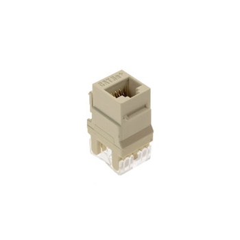 On-Q WP3450-LA 1-Port RJ45 Category 5E Light Almond Plastic Snap-In Keystone Connector