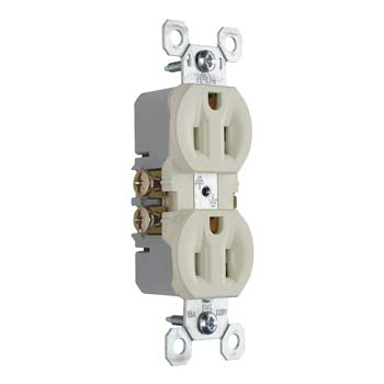 15A/125V TradeMaster® Duplex Receptacle, Light Almond