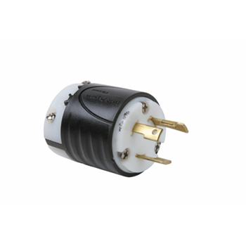 30 Amp NEMA L530 Plug - Black Back, White Front Body