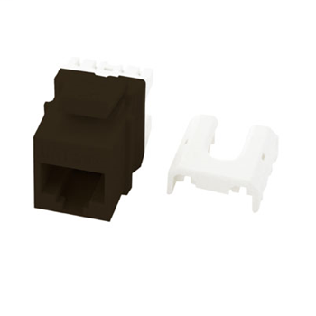 On-Q WP3475-BR RJ45 8-Position 8-Wire Category 5E Brown Plastic Quick Connect Keystone Connector