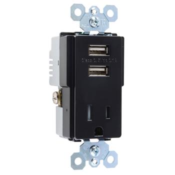 PAS TM8-USBBKCC6 COMBO RCPT+USB SW