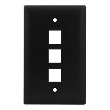Legrand-On-Q,WP3403-BK,1G WALL PLATE 3-PORT BK (M10)