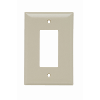 Pass & Seymour SPO26-I 1-Gang 1-Decorator Ivory Smooth Thermoset Plastic Jumbo Wallplate