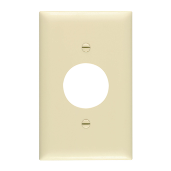Pass & Seymour TP7 1-Gang 1-Single Receptacle Brown Nylon Standard Unbreakable Wallplate