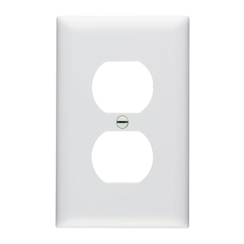 Duplex Receptacle Openings, One Gang, White