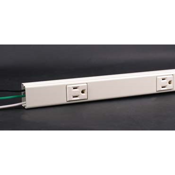 Plugmold Hard-Wired Multi-Outlet Strip, Ivory