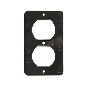 1-Gang Duplex Cover Plate, Black
