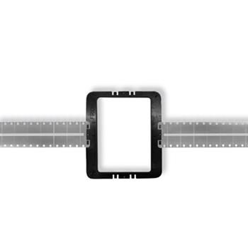 On-Q 364675-02 8 Inch Black Plastic/Aluminum Screw Mount In-Wall Speaker Bracket