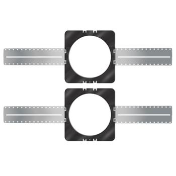 On-Q 364673-02 8 Inch Black Plastic/Aluminum Screw Mount In-Ceiling Speaker Bracket