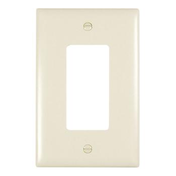 Pass & Seymour TPJ26-LA 1-Gang 1-Decorator Light Almond Nylon Jumbo Unbreakable Wallplate