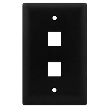1-Gang, 2-Port Wall Plate, Black