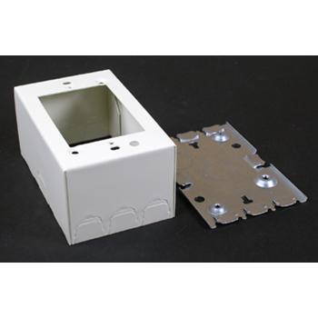 Wiremold,V5747,STL SHALLOW DEVICE BOX IVORY