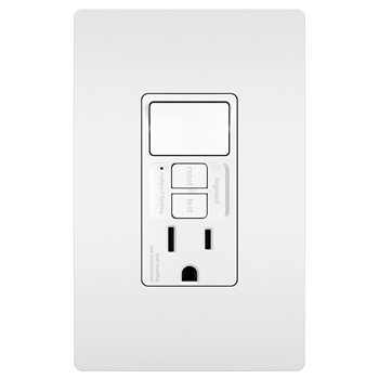 Combination Tamper-Resistant 15A Self-Test Single-Pole Switch/GFCI, White