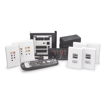 On-Q AU5644-WH Multi-Source 4-Zone Studio Design White High Performance Audio System Source Kit