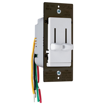 LS Series Fan Speed Control/Dimmer, White