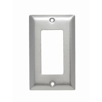 Pass & Seymour SS26 1Gang Wall Plate, Decorator, Standard - 302/304 Stainless Steel