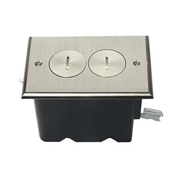 PAS FB1-TR-DR-N SG DUP FLOOR BOX