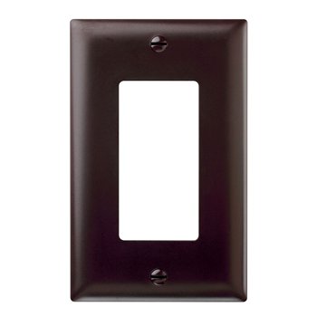 Wattstopper TP26 1-Gang 1-Decorator Brown Nylon Standard Unbreakable Wallplate