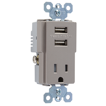PAS TM8-USBNICC6 COMBO RCPT+USB SW