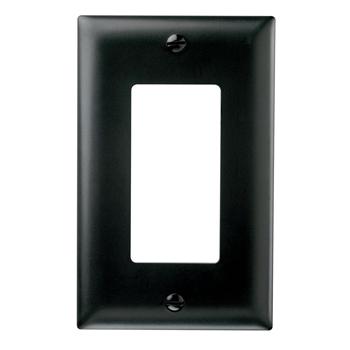 Pass & Seymour TP26-BK 1-Gang 1-Decorator Black Nylon Standard Unbreakable Wallplate