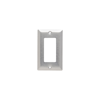 Pass & Seymour SL26 1-Gang Smooth Brushed 430 Stainless Steel Standard Wallplate