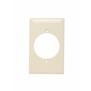 Pass & Seymour TP724-LA 1-Gang 1-Power Outlet Receptacle Light Almond Nylon Standard Unbreakable Wallplate