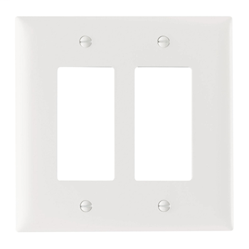 Decorator Openings, Two Gang, White