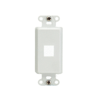 1-Port Decorator Outlet Strap, White