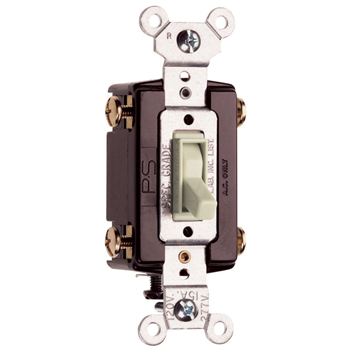 NAFTA-Compliant TradeMaster Grounding Toggle Switch, Light Almond