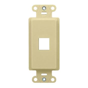1-Port Decorator Outlet Strap, Light Almond