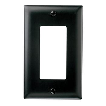 Pass & Seymour SP26-BK 1Gang Wallplate, Decorator, Black
