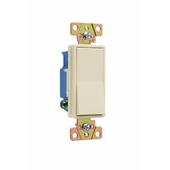 Pass & Seymour 2601-I 15 Amp 120/277 VAC 1-Pole Ivory Polycarbonate Screw Mounting Rocker Decorator Switch