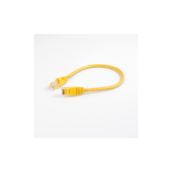 1ft Value Series Cat5E Booted Patch Cord - Yellow