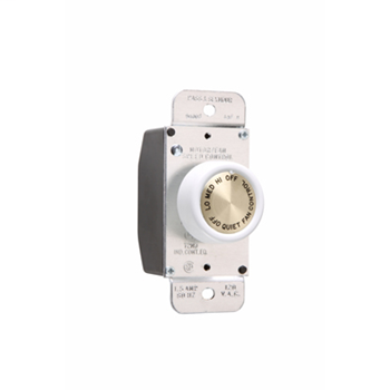 Rotary Fan Speed Control, White