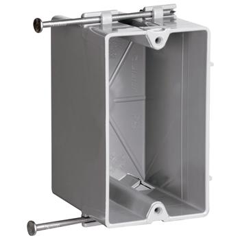 PASS P118R 1G PLASTIC OUTLET BOX