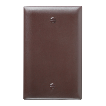 1-Gang, Blank Wall Plate, Brown