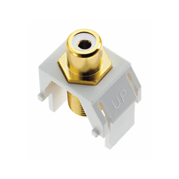 ONQ WP3461-WH WHITE RCA TO F-CONNECTOR WH (M20)