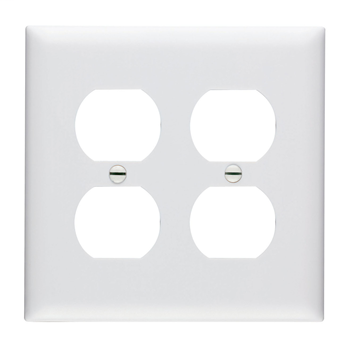 P S Tp82 W 2gang White Double Duplex Receptacle Plate