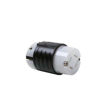 20 Amp NEMA Connector L1620 - Black Back, White Front Body