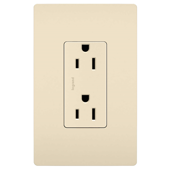 Duplex Receptacle, Light Almond