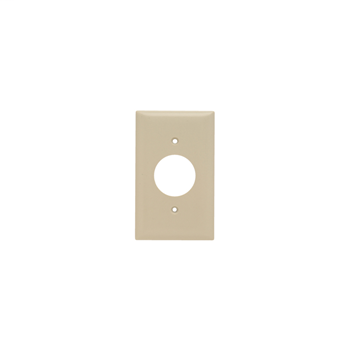 Pass & Seymour SP7-I 1-Gang 1-Single Receptacle Ivory Smooth Thermoset Plastic Standard Wallplate